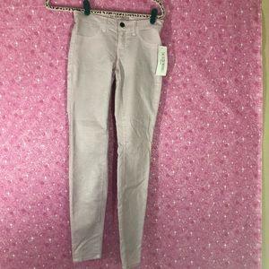 J Brand New 25 Low Rise Super Skinny Pink Glitter